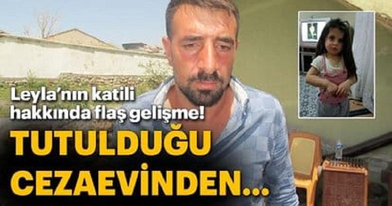 Minik Leyla'nın katil zanlısı Elazığ'a nakledildi.