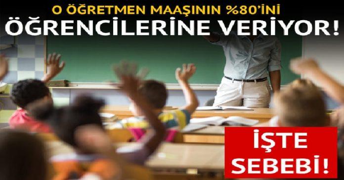 O öğretmen maaşının yüzde 80'ini yoksul öğrencilerine adadı 2
