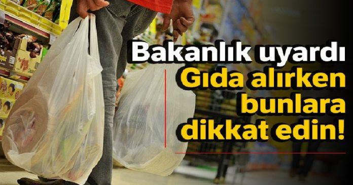 Bakanlıktan tüketicilere gıda alışverişi uyarısı 2