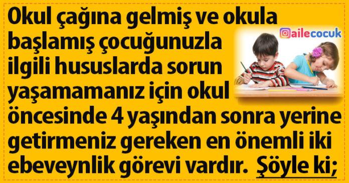 Çocuğa okul sorumluluğu kazandırmak... 1