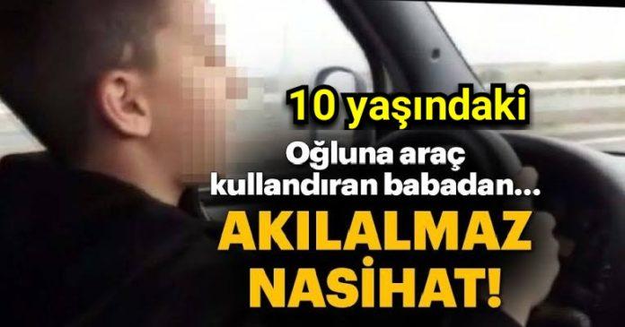 10 yaşındaki oğluna araç kullandırdı, sözleri şoke etti 2