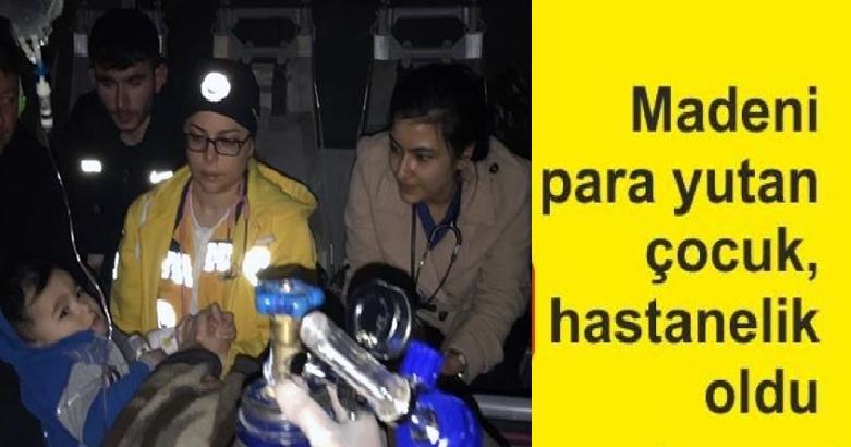 Tunceli'de metal para yutan çocuk helikopterle hastaneye ulaştırıldı 3