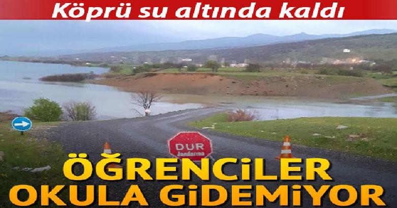 Köprü su altında kaldı... Öğrenciler okula gidemiyor 3