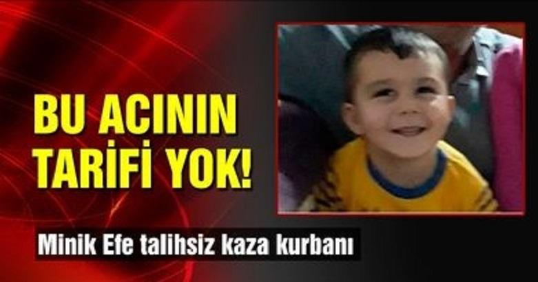 Üzerine televizyon düşen minik Kamil Efe hayatını kaybetti 2